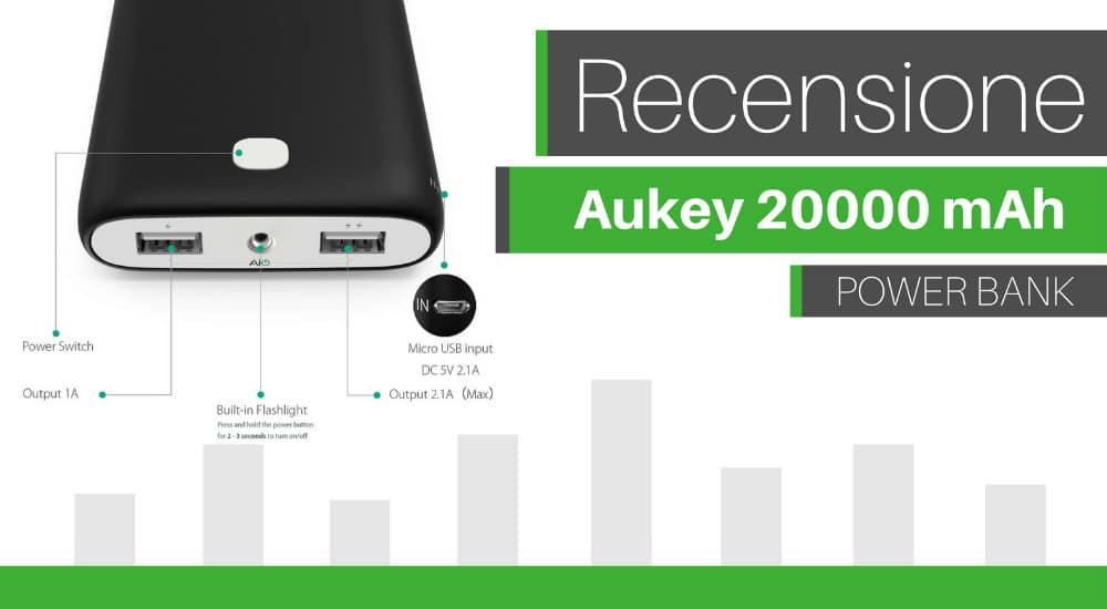 recensione aukey 20000mah