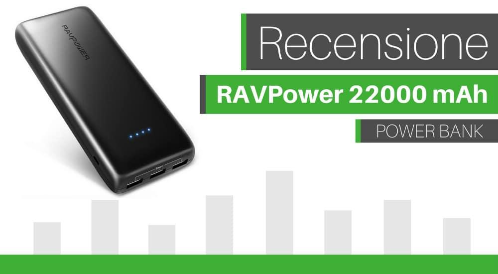 recensione ravpower 22000mah