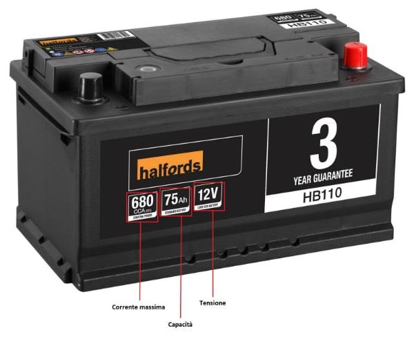 Caratteristiche batteria 12V auto