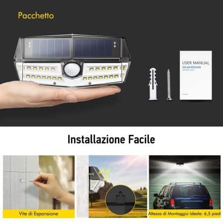 Installazione lampade solari