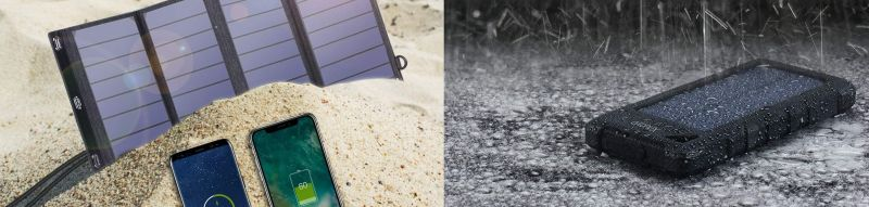 caricabatterie solare vs power bank solare
