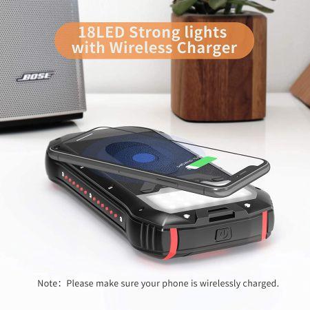 ricarica wireless power bank solare
