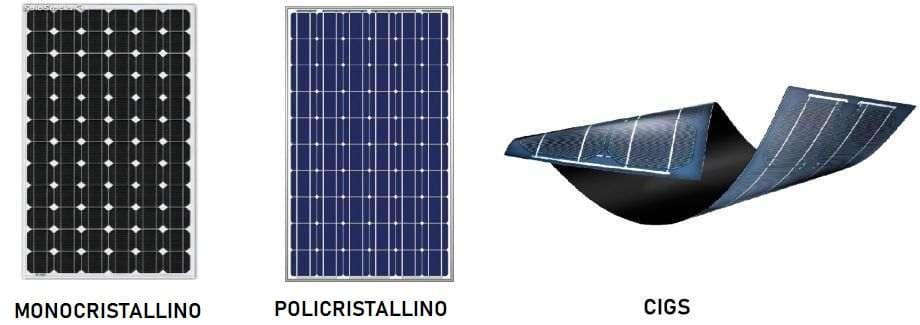 tipi pannelli solari