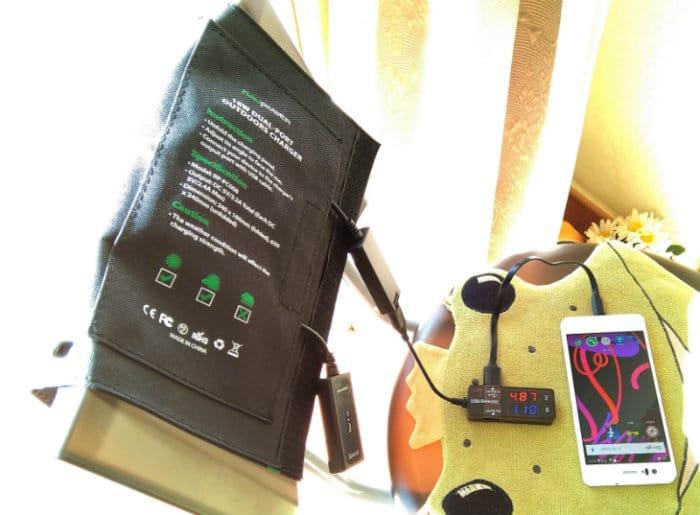 caricabatterie solare raggi perpendicolari